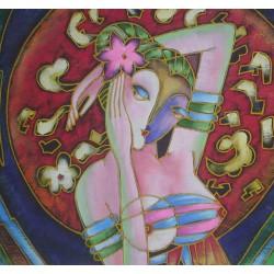 抽象油畫--少女(媚)