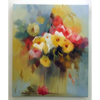 立體無框畫-花