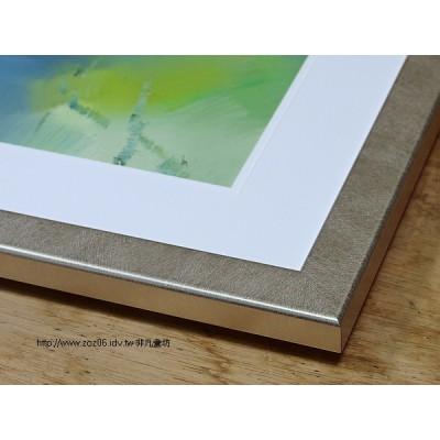 銀色水彩畫框